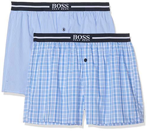 BOSS Herren Nos Boxer Ew 2P Schlafanzughose, Blau (Open Blue 471), Large (2er Pack)