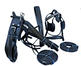Pets2Care LEATHER HORSE DRIVING HARNESS CARRIAGE HARNESS BLACK IN EXTRA FULL, FULL, COB & PONY (EXTRA FULL)