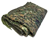 HSD Poncho Liner Military Woobie, Lightweight Multi Use Indoor & Outdoor Blanket, Camping Gear, Sleeping Bag Liner, Survival, Hunting, Tactical Equipment (MARPAT, Adult Size)