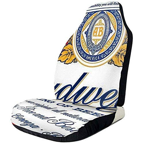 KDU Fashion Voorstoel Cover,Budweiser Bier Voorstoel Covers 2 Stks Charmante Voorzijde Auto Stoelhoezen Voor Van Auto