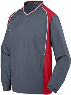 Augusta Sportswear Men's Roar Pullover M Graphite/Red/White