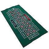 bozitian Pokermatte Roulette Tisch Spieltischdecke Doppelseitiges Muster Filz Vliestuch Wasserdicht Tischset Blackjack Roulette Tischdecke,Faltbare Tischauflage Casino Pokertischauflage