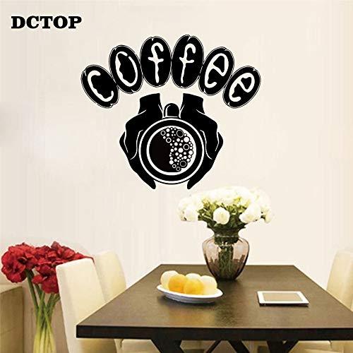 Sanzangtang Koffiemok, warme hand muursticker, kunst vinyl, decoratie, café-winkel, keuken, koelkast, wandafbeelding, behang