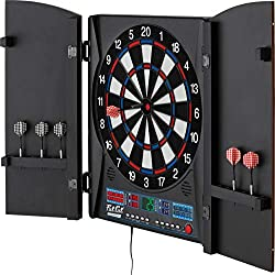Fat Cat Electronic Soft Tip Dart Board with Cabinet