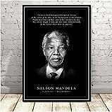nobrand Nelson Mandela Great Leader Star Kunst Malerei