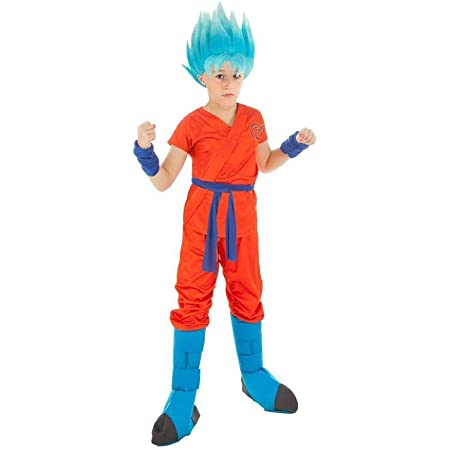 Generique Dragonball Z Kinderkostum Son Goku Orange Blau Amazon De Spielzeug