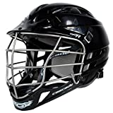New Cascade CPV-R Lacrosse Helmet with Silver Face Mask (Choose Your Shell Color)-Black-Adult-Large