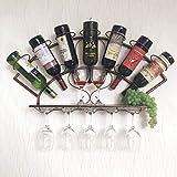 JBNJV Estante para vinos de Pared Estante para vinos de Pared Ventilador contemporáneo Botella de Hierro Botellas múltiples Soporte para Botellas de Vino Tinto en la Cabeza Estante Creativo para b