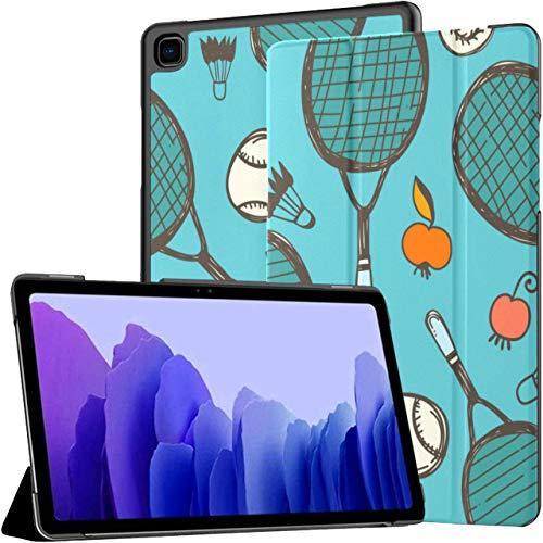 Raqueta de bádminton y Raqueta de Tenis Funda para Galaxy Tab A para Galaxy Tab A7 Funda para tabletas Samsung de 10,4 Pulgadas Funda para Galaxy Tab A7 con activación/Reposo aut