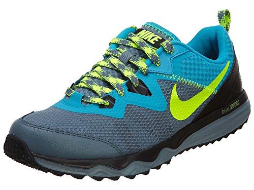 NIKE Men's Dual Fusion Trail Running Shoes Blue/Yellow/Grey/Black 652867-402 Sz 8-13 (11.5)
