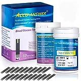 Accu Answer Blood Glucose Test Strips - Blood Sugar Testing for Diabetes Control
