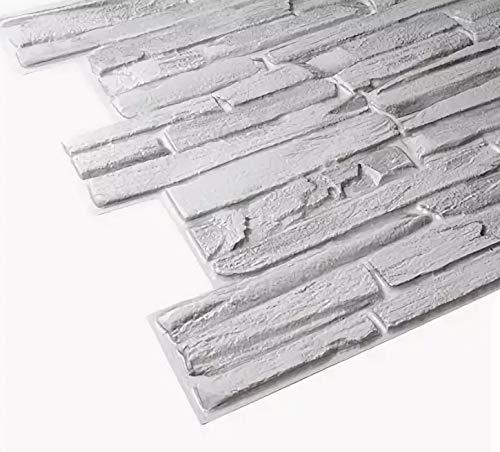 STM Dekor | PVC Paneele Gray Quarzite | 1 Platte | Stein | Wandpaneele | Deckenpaneele | Tapete | Wanddeko | Wandaufkleber | Schaumstoff | Wasserfest | Kunstoff Platt