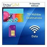 travSIM 71+ Holiday Destinations SIM Card (Three UK SIM) Valid for 60 Days – 3GB Mobile Data – Australia France Brazil Germany Israel Switzerland Greece New Zealand Sweden Vietnam UK Three SIM Card