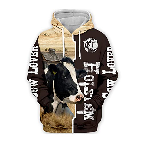 Farm Milk Cow 3D All Over Printed Unisex Hoodies Harajuku Casual Sudadera con Capucha Zip Hoodies Hombres Tops...