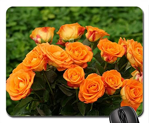 Beautiful Bouquet Naranja Alfombrilla de ratón, Alfombrilla de ratón (Alfombrilla de ratón con Flores)