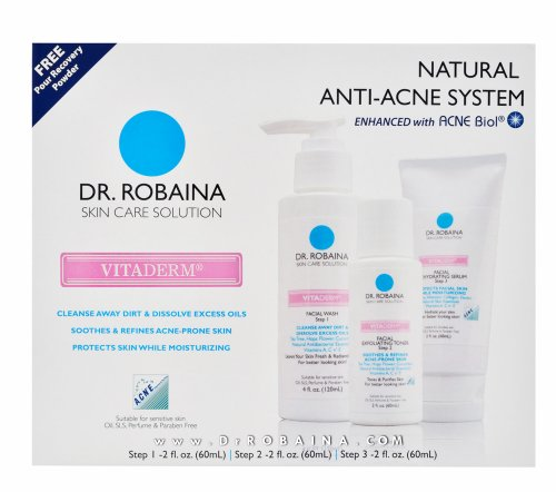 Dr. Robaina Skin Care Solution VITADERM Complete System Natural Anti-Acne...