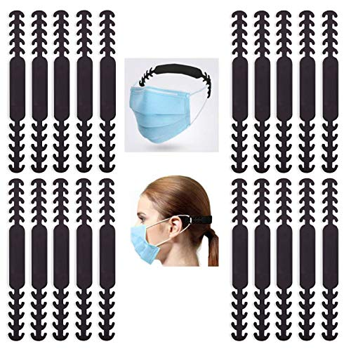 Maskenhalterung Hinterkopf [20 Stück][5 Stufen einstellbar] Kardition Maskenhaken Verstellbar Maskenverlängerung[Rutschfest][Ohrenschmerzen lindern]Masken Halter Passend für Kind,Alter Mann,Erwachsene