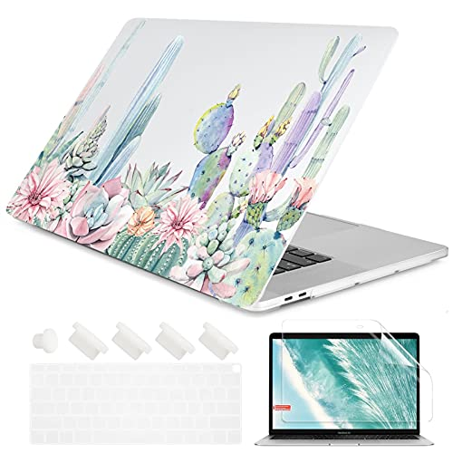 Crystal Clear Painting Flowers Laptop Case for A-p-p-l-e M-a-c-B-o-o-k Pro Retina 12 13 15 Touch Bar Air 11 13.3 2020 A2338 A2337 M1 (Color : 19, Size : Air 2020 A2179 A2337)