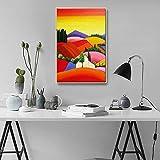 Colorido Resumen Paisaje Rural Pintura al óleo Moderno Lienzo Imprimir Dormitorio Corredor Pared Arte Decoración Pintura,NoFrameD,30x50cm