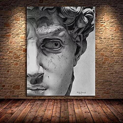Quadri decorativi Vintage David Gesso Scultura Poster Dipinti Su Tela Stampe D'arte Della Parete...