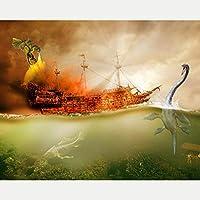 QMGLBG 5Dダイヤモンド塗装 海恐竜消防船ダイヤモンド塗装クリスタルラインストーンアート壁装飾ギフト30*40cm
