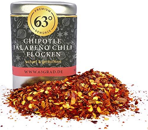 63 Grad - Chipotle Jalapeño Chili Flocken - Geräucherte Chili aus Mexico (60g)