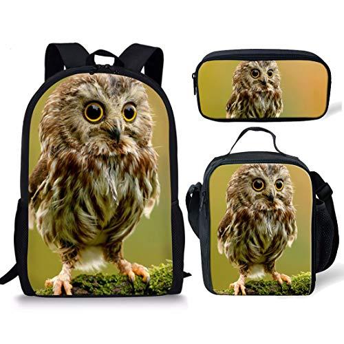 Mochila para niñas con diseño de pájaros, Mochila Escolar para niños, Mochila de Viaje Informal con Bolsillo Lateral, Color Verde