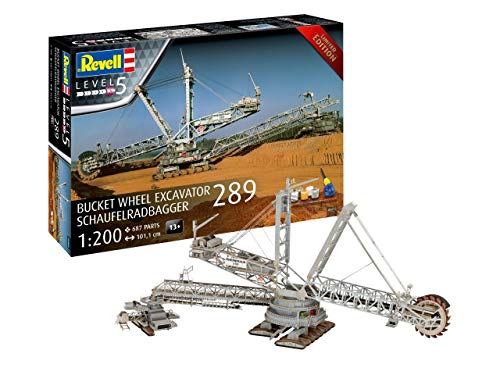 Revell 05685 Sonderauflage Schaufelradbagger 289 im Maßstab 1:200, 101,1 cm originalgetreuer Modellbausatz für Experten, Starter Set mit Basis-Zubehör, unlackiert
