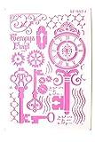 Boutique d'isacrea - Plantilla de plástico (30 x 21 cm), diseño vintage con llave y péndulo