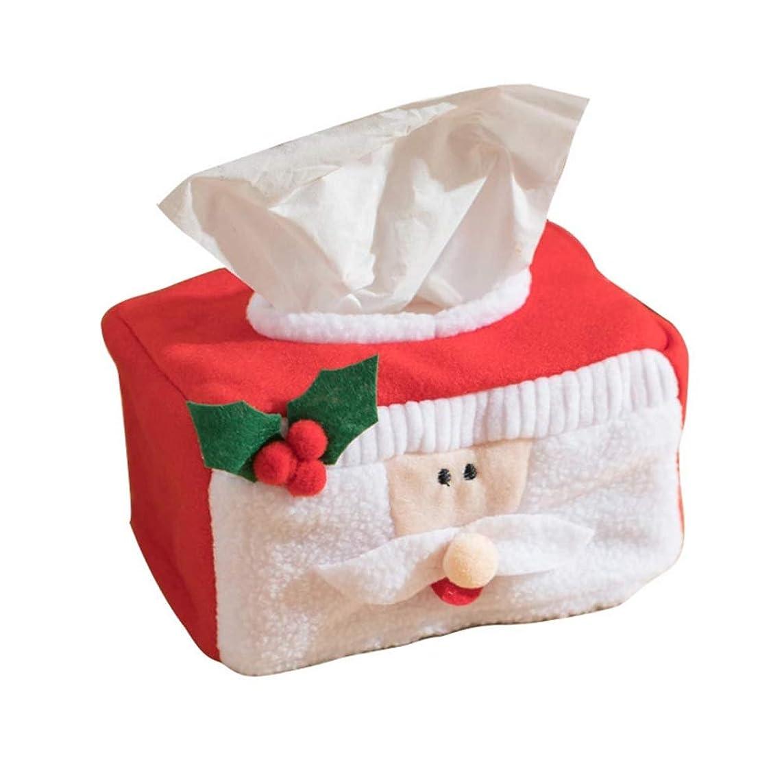 動経度ドルティッシュケース クリスマス ティッシュボックス 収納ボックス ティッシュ箱 可愛い サンタクロース ペーパーカバー ホルダーインテリア用品 クリスマス デコレーション 雑貨 (サンタクロース)