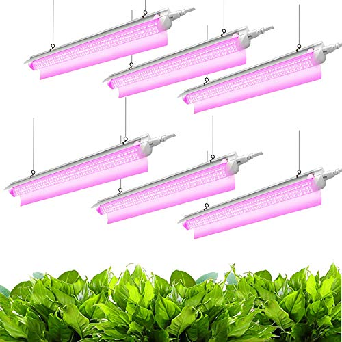 JESLED 2FT LED Grow Lights for Indoor Plants(6-Pack) Only $35.99 (Retail $59.99)