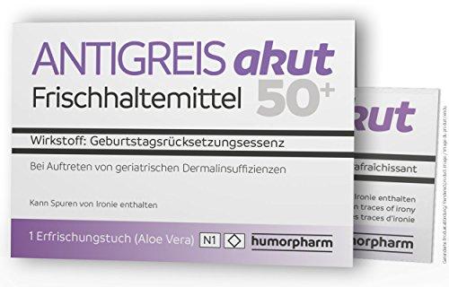 """humorpharm Witzige Geschenkidee ANTIGREIS akut - für alle ab 50"""" - Scherzartikel"""