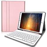 Lachesis Custodia Italiana Tastiera per iPad 10.2 2020 8a Gen/2019 7a Gen/iPad Air 3 2019/ ipad pro 10.5 2017, Tastiera iPad 8 generazione Wireless Staccabile Bluetooth, tastiera ipad 10.2