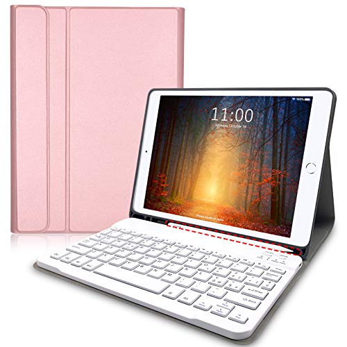 Lachesis Custodia Italiana Tastiera per iPad 10.2 2020 8a Gen/2019 7a Gen/iPad Air 3 2019/ ipad pro 10.5 2017, Tastiera iPad 8 generazione Wireless Staccabile Bluetooth, tastiera ipad 10.2