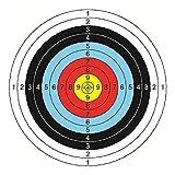 Yoyakie Documento De La del Papel De Destino Tiro con Flecha Formación Práctica De Airsoft De Destino para Recurvado Tiro con Accesorios De Repuesto 30 PCS