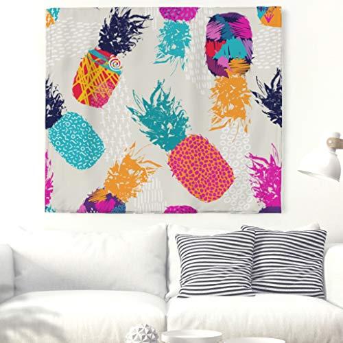 Ananas Tapestry Tapisserie Nappe de plage Motif tropicaux 200x150cm