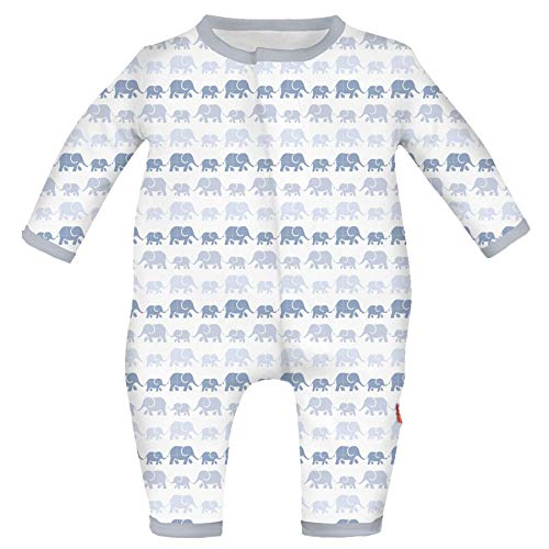 Magnetic Me Easy-Close Modal Coverall Jumpsuit Dancing Elephants 6-9 Months