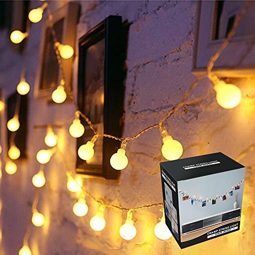 Globe String Lights for Bedroom Fairy Light 33ft 100 LED丨Photo Clip String Lights, 13Ft, 40 LED