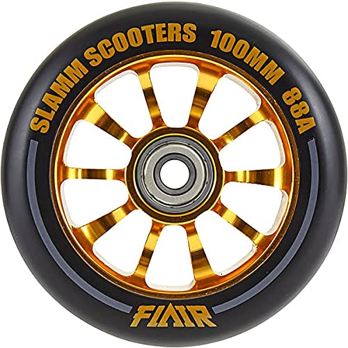 SLAMM SCOOTERS キックボード スペアウィール SL580 FLAIR Alloy Core 100mm 88a + ABEC 9 Bearings キックスクーター 【K1】【C1】 BLACK