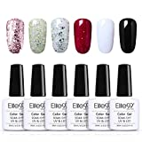 Elite99 Esmaltes Semipermanentes de Uñas en Gel UV LED, 6pcs Kit de Esmaltes de Uñas 10ml 012