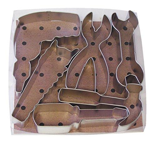 R&M International Construction Tool 6-Piece Cookie Cutter Set, 1-Pack, Metallic
