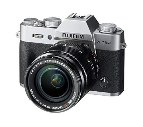 "Fujifilm X-T20 24 MP Mirrorless Camera with XF 18-55mm Lens (APS-C X-Trans CMOS III Sensor, Electronic Viewfinder, 3"" Tilt Touchscreen, AF Modes, 4K Video, Film Simulation Modes, Filters) - Silver"