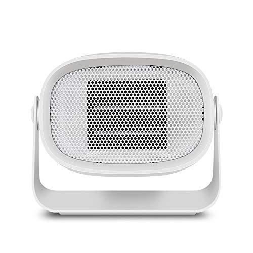 ChangHua1 Mini Calentador De Calefactor De Calefacción De Computadora De Escritorio Pequeño Potencia Potencia Ventilador Portátil Mini Calentador Calentador De Regalo (Color : White)