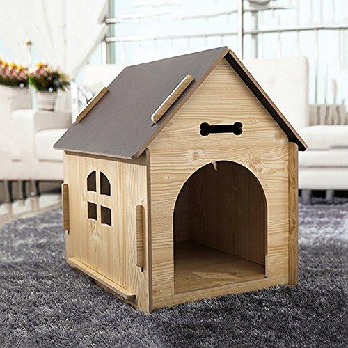 YNZYOG Indoor Outdoor Huisdier Huis Grote Houten Hond Kennel Villa Dier Huisvesting Upscale Cat Nest Hond Bed Fossa Waterdicht Gemakkelijk schoon te maken