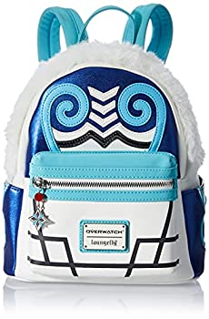 Overwatch Mei Faux Fur Cosplay Mini Backpack White White Size One Size