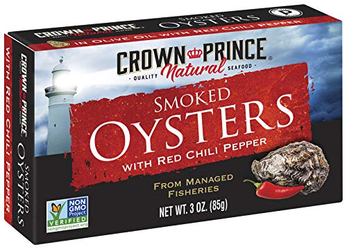 Crown Prince Natural Smoked Oysters with Red Chili...