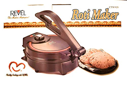Revel Roti CTM 620 Tortilla Flatbread Maker with Temperature Control, 8-Inch, Black