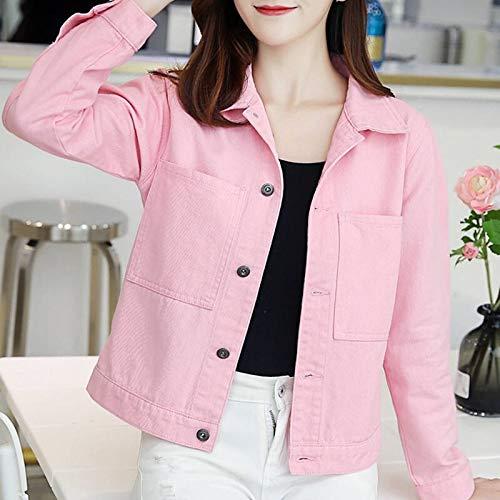 NZJK herfst damesjack Harajuku mode basislegende mantel vrouwelijk vintage jean jassen slank wit roze denim jas jas