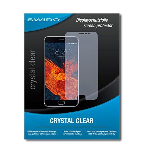 SWIDO Schutzfolie für Meizu Pro 6 Plus [2 Stück] Kristall-Klar, Hoher Festigkeitgrad, Schutz vor Öl, Staub & Kratzer/Glasfolie, Bildschirmschutz, Bildschirmschutzfolie, Panzerglas-Folie