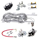 8544771 Dryer Heating Element, 279973 3392519 Thermal Fuse and 279816 Thermostat Cut Off Dryer Compatible with maytag, kenmore, whirlpool, kitchenAid, roper, estate, mmana, admiral, and More